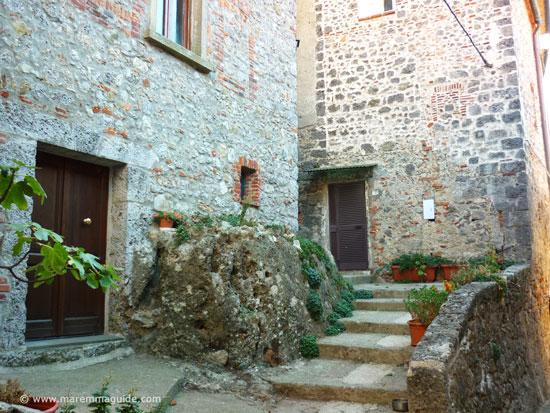Historic centre of Prata in Maremma Tuscany