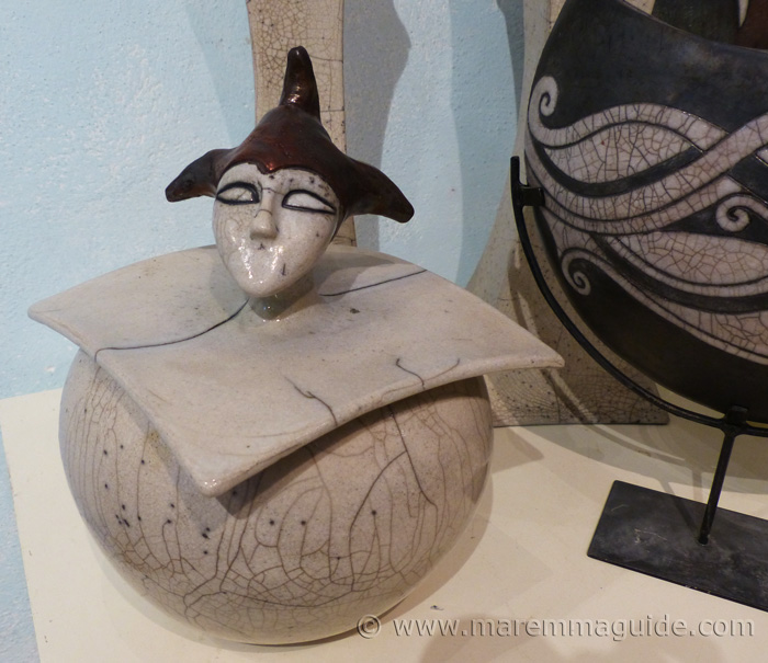Raku pottery for sale.