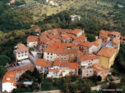 Aerial view of Ravi in Tuscany Maremma Italy