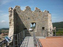 Middle ages castle of La Rocca di Campiglia Marittima in Maremma Italy