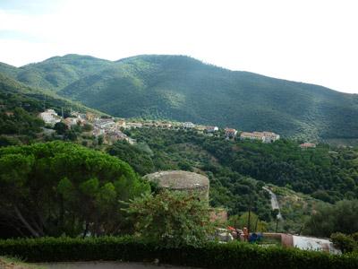 View from La Rocca Pisana: Scarlino Castle, Maremma Italy