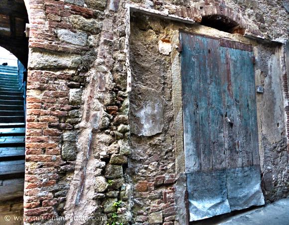 Tuscany door in Roccastrada Italy
