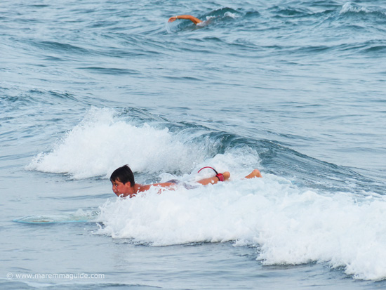 Surfing at le Rocchette Castiglione della Pescaia Tuscany