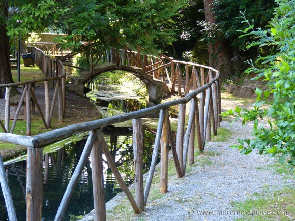 The gardens of the Peschiera in Santa Fiora Tuscany.