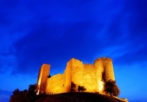 Medieval castles in Maremma: Castello di Scarlino Tuscany Italy