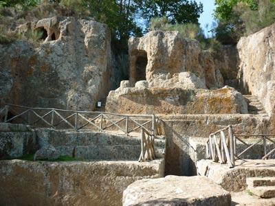 Sovana Etruscan temple tomb Ildebranda, Maremma Tuscany Italy