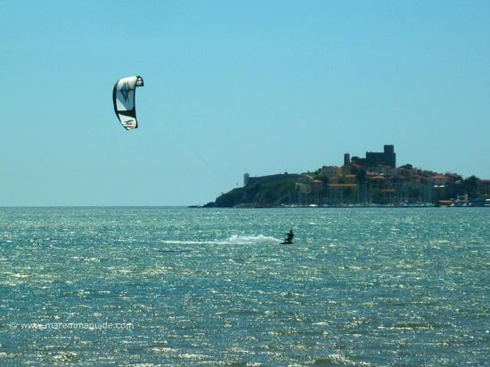 Talamone kitesurfing Tuscany Maremma