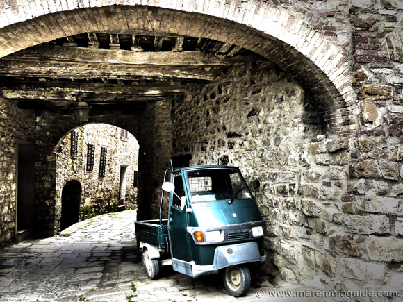 Medieval Tuscany hill top town