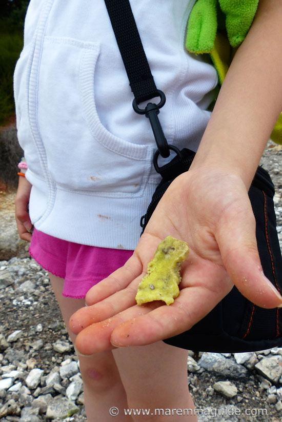 Things to do in Maremma: collecting minerals in the Goethermal Park at Monterotondo Marittimo