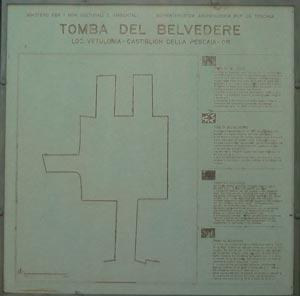 Tomba del Belvedere diagram