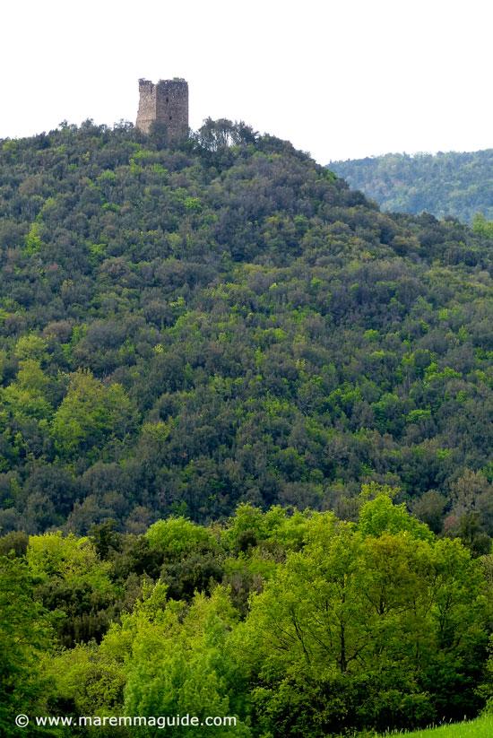 Torraccia, Castelluccio di Cornia, Lustignano Tuscany: Maremma castles