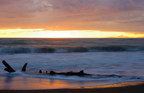 Tuscany Beaches in Maremma sunset photo: Tramonto a Principina