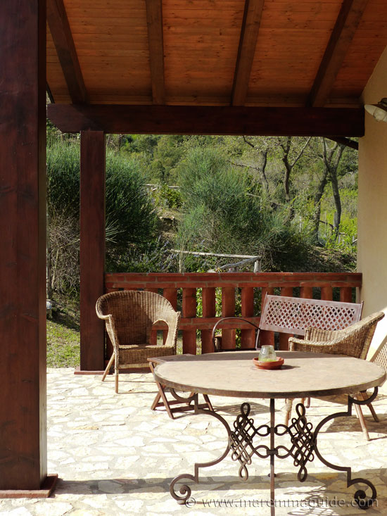 Maremma vacation rentals: cottage terrace