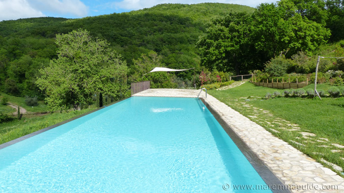 Tuscany farmhouse with swimming pool.