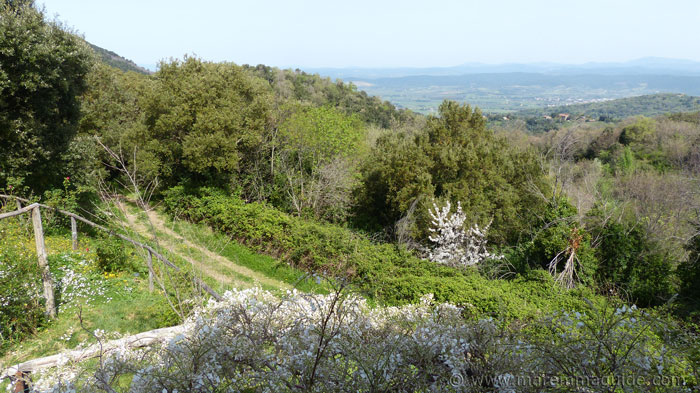 View over the colline metallifere in Maremma Tuscany Italy.