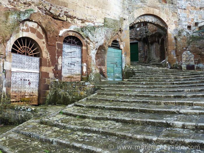 Tuscany doors in Pitigliano Italy.