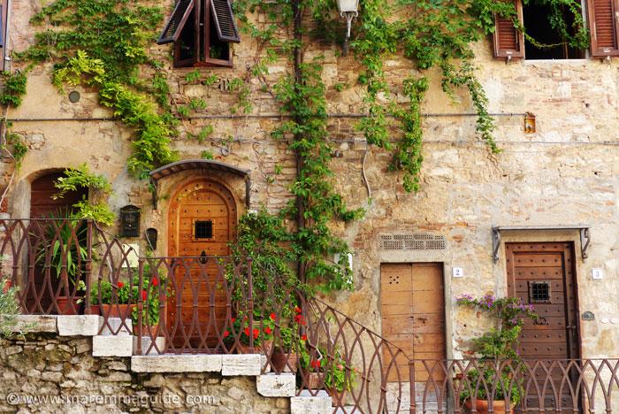 Tuscany doors in Campiglia Marittima Italy.