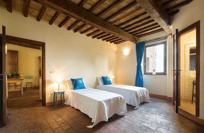 Tuscany hill town apartment for sale in Maremma Italy.