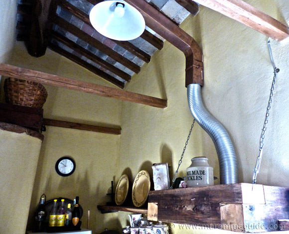 Traditional Tuscan farmhouse kitchen detail