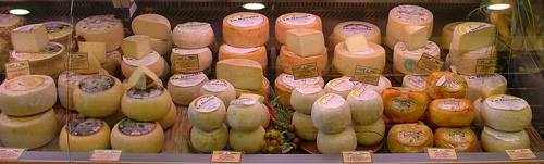 Typical Italian Cheeses from Maremma