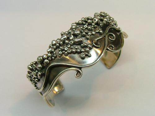 Unique silver jewellery: Italian sterling silver bracelets - cuff