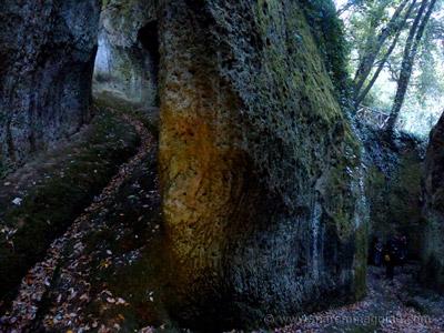 Via Cava di San Rocco Sorano trekking