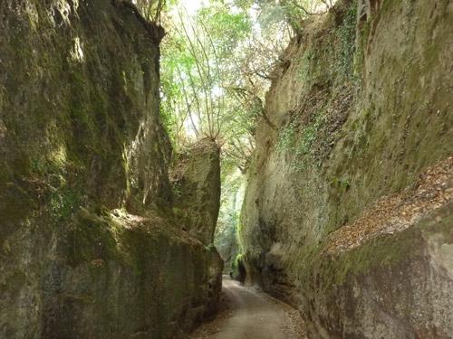 Vie Cave at Sovana: Via Cava Il Cavone Maremma Tuscany Italy