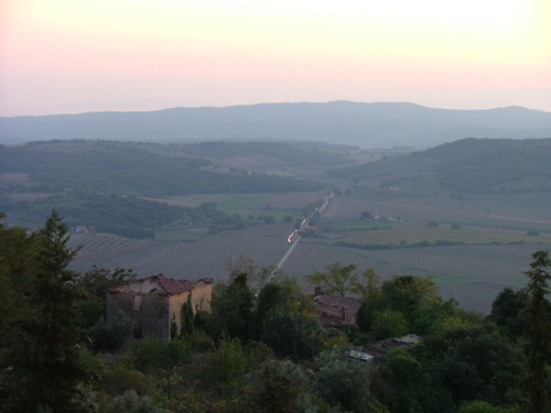 Sunset view from Massa Marittima in the heart of Maremma Grossetana